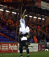 Photo: Mark Stephenson/Sportsbeat Images.<br /> Stockport County v Hereford United. Coca Cola League 2. 17/11/2007.Hereford's Lional Ainsworth celebrates his 3ed goal