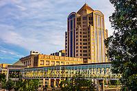 The Wells Fargo Tower, Downtown Roanoke, Virginia USA.