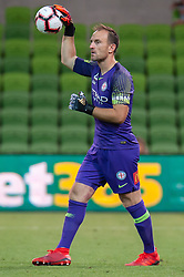 January 11, 2019 - Melbourne, VIC, U.S. - MELBOURNE, VIC - JANUARY 11: Melbourne City goalkeeper Eugene Galekovic (18) looks on at the Hyundai A-League Round 13 soccer match between Melbourne City FC and Brisbane Roar FC at AAMI Park in VIC, Australia 11th January 2019. (Photo by Speed Media/Icon Sportswire) (Credit Image: © Speed Media/Icon SMI via ZUMA Press)