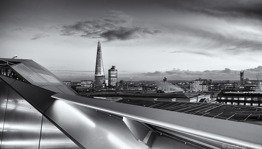 A view of the London Skyline from One New Change, capturing the Shard in the distance.
