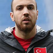 Turkey U21's Sercan Yildirim during their friendly soccer match Turkey U21 betwen Denmark U21 at Recep Tayyip Erdogan stadium in Istanbul February 29, 2012. Photo by TURKPIX