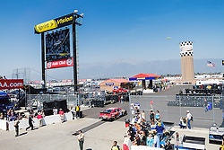 Fontana, CA/USA (Saturday, March 23, 2013) -  NASCAR Sprint Cup Series Driver J.J. Yeley drives car #36 during practice at the Auto Club Speedway in Fontana, CA   PHOTO © Eduardo E. Silva/SILVEX.PHOTOSHELTER.COM.