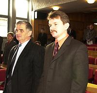 Bialystok, 11.2002. N/z Krzysztof Tolwinski ( P ) polityk PSL-Piast kandydat PiS na wiceministra Skarbu fot Michal Kosc / AGENCJA WSCHOD