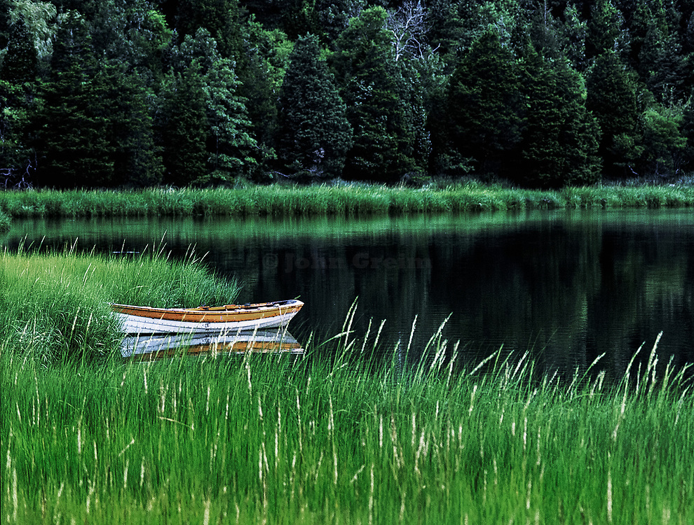 Rowboat on Mill Pond, Orleans, Cape Cod, MA