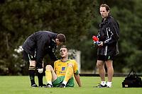 Fotball<br /> Treingskamp Friendly<br /> 19.07.08<br /> Sjövalla Stadion<br /> Ahlafors IF - Norwich City<br /> Jason Shackell injured<br /> Foto - Kasper Wikestad
