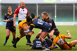 Jade Shekells of Worcester Warriors Women tackles - Mandatory by-line: Nick Browning/JMP - 24/10/2020 - RUGBY - Sixways Stadium - Worcester, England - Worcester Warriors Women v Wasps FC Ladies - Allianz Premier 15s