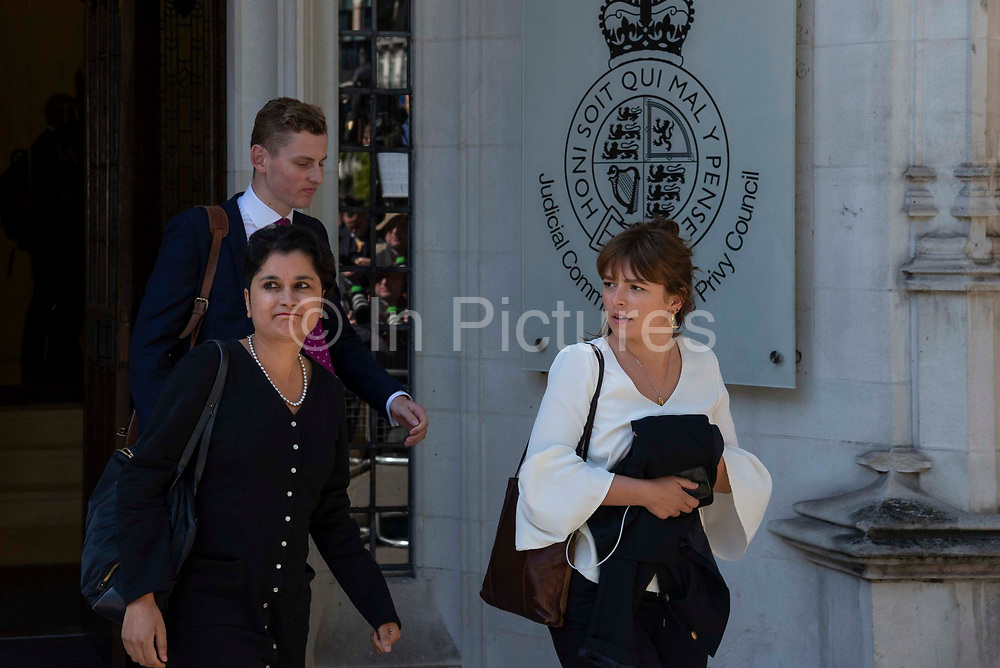 Sharmishta Chakrabarti, Shadow Attorney General L leaving the Supreme Court on day one of the hearing to rule on the suspension of parliament, on September 17th 2019 in London, United Kingdom.  Supreme Court judges will decide if Prime Minister Boris Johnson acted unlawfully in advising the Queen to prorogue parliament.
