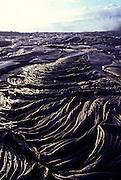 Pahoehoe lava, Kilauea Volcano, Island of Hawaii, Hawaii, USA<br />