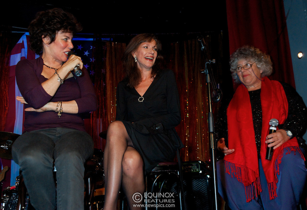 London, United Kingdom - 2 September 2009.Comedienne Ruby Wax and actresses Belinda Lang and Miriam Margolyes performing at gay bar the Royal Vauxhall Tavern, Vauxhall, London, England, UK on 2 September 2009..(photo by: EDWARD HIRST/EQUINOXFEATURES.COM).Picture Data:.Photographer: EDWARD HIRST.Copyright: ©2009 Equinox Licensing Ltd. +448700 780000.Contact: Equinox Features.Date Taken: 20090902.Time Taken: 214424+0000.www.newspics.com