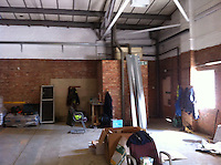 Brewing kit in right hand unit, cask storage, distribution and offices in left hand unit