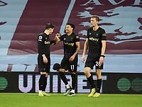 Football - 2020 / 2021 Premier League - Aston Villa vs West Ham United - Villa Park<br /> <br /> West Ham United's Jesse Lingard celebrates scoring his side's third goal.<br /> <br /> COLORSPORT/ASHLEY WESTERN