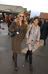 Left, JERRY HALL at the 50th running of the Hennessy Gold Cup at Newbury Racecourse, Berkshire on 25th November 2006.<br /><br />NON EXCLUSIVE - WORLD RIGHTS