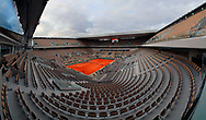 Philippe CHATRIER stadium illustration pictured with wide view with it new roof top open at the evening during the Roland Garros 2020, Grand Slam tennis tournament, on October 2, 2020 at Roland Garros stadium in Paris, France - Photo Stephane Allaman / ProSportsImages / DPPI