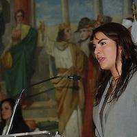 Toluca, Mex.- Carla Bianca Grieger, diputada local del Partido Verde Ecologista, presidió el primer aniversario e informe de labores de la Asociación para el Desarrollo de la Estudiante Universitaria, donde se entregaron reconocimientos a alumnas de diferentes instituciones por aprovechamiento. Agencia MVT / José Hernández. (DIGITAL)<br /> <br /> <br /> <br /> NO ARCHIVAR - NO ARCHIVE
