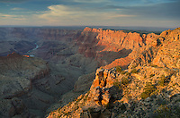 Sunset over the Grand Canyon from Navajo Point, Grand Canyon National Park