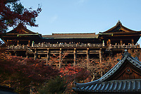 14. Kiyomizu Temple 清水寺 or Kiyomizu-dera is a major attraction to the city much celebrated for its awe-inspiring architecture.  Not one nail was used in building the entire temple. The showpiece here is  'dancing stage' veranda where performances were once held.  Kiyomizu takes its name from the waterfall in the hills nearby, the water itself being sacred. Kiyomizu means pure water in Japanese.