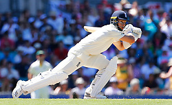 England's Tom Curran plays a shot during day two of the Ashes Test match at Sydney Cricket Ground.