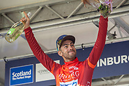 Jacob Scott of Canyon DHB winner of the Eisberg sprint trophy during the AJ Bell Tour of Britain 2021, stage 7 between Hawick and Edinburgh, Scotland on 11 September 2021.