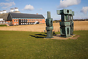 'Family of Man' sculpture by Barbara Hepworth at Snape Maltings, Suffolk, England