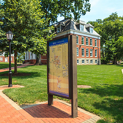 Newark, DE – June 24, 2013: One of the brick buildings on the University of Delaware campus.