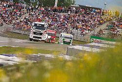 07.07.2013, Red Bull Ring, Spielberg, AUT, Truck Race Trophy, Renntag 2, im Bild Norbert Kiss, (HUN, Oxxo Energy Truck Race Team, #10, 3. Platz), Jochen Hahn, (GER, Castrol Team Hahn Racing, #1) // during the Truck Race Trophy 2013 at the Red Bull Ring in Spielberg, Austria, 2013/07/07, EXPA Pictures © 2013, PhotoCredit: EXPA/ M.Kuhnke