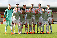 Spain team during the UEFA European Under 17 Championship 2018 match between Netherlands and Spain at the Pirelli Stadium, Burton upon Trent, England on 8 May 2018. Picture by Mick Haynes.