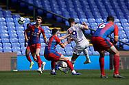 Ryan Edmondson of Leeds United U23 shoots during the U23 Professional Development League match between U23 Crystal Palace and Leeds United at Selhurst Park, London, England on 15 April 2019.