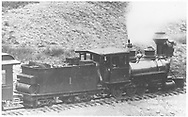 """RGS 2-8-0 #1 pulling passenger train.  Note that 1924 RGS reclassed 2-8-0 locomotives, which class 60 was included, to C-16 locomotives.<br /> RGS  Lizard Head Pass, CO  Taken by Jackson, William Henry - 1895<br /> In book """"RGS Story, The Vol. XII: Locomotives and Rolling Stock"""" page 10<br /> Also in """"RGS Story Vol. IV"""", p. 10; """"Narrow Gauge Country"""", p.38; """"Silver San Juan"""", p. 98; """"Narrow Gauge in the Rockies"""", p. 203; """"Highball"""", p. 141; """"John Norwood's Railroads"""", p. 16 and """"Rio Grande ? to the Pacific"""", p. 206.<br /> Same image as RD 155-162.  Both are cropped enlargements of the image in the books referenced."""