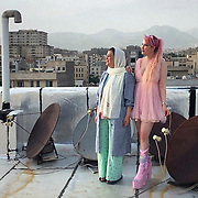 """""""I am a fashion blogger and live in Pune, India. I travelled back to Iran on 24th January to visit my family and since then because of the travel restrictions I am unable to go back to India and am staying in Tehran with my aunt. """"<br /> Aida Arabian and her aunt Narges Cheraghinik. May 5th, 2020"""