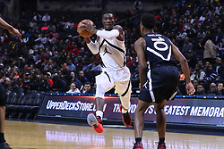 April 8, 2018 - Brooklyn, NY, U.S. - 08 APR 2018:    Jordan Brand Classic Home Team forward Emmitt Williams (5) drives during the first half of the game between the 2018 Jordan Brand All American West Team and the 2016 Jordan Brand All America East Team played at the Barclays Center in Brooklyn, NY. (Photo by Rich Graessle/Icon Sportswire) (Credit Image: © Rich Graessle/Icon SMI via ZUMA Press)