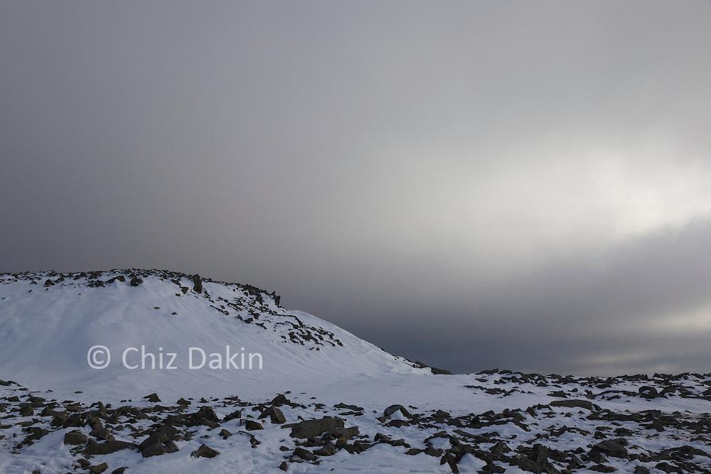 Rocks near the summit of Scafell Pike