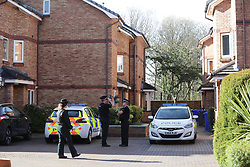 © Licensed to London News Pictures . 24/03/2017 . Manchester , UK . Scene on Lawnside Mews in Didsbury , Manchester where police investigating Khalid Masood's terrorist attack in Westminster have arrested a person . Photo credit: Joel Goodman/LNP