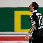 Besiktas's Celebrates his goal Roberto Hilbert and during their Turkish Superleague soccer match Besiktas between SB Elazigspor at BJK Inonu Stadium in Istanbul Turkey on Monday, 17 September 2012. Photo by TURKPIX