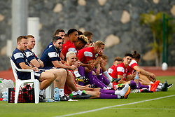 Bristol City head coach Lee Johnson, coaches and subs watch from the touch line - Mandatory by-line: Matt McNulty/JMP - 22/07/2017 - FOOTBALL - Tenerife Top Training - Costa Adeje, Tenerife - Bristol City v Atletico Union Guimar  - Pre-Season Friendly