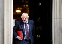 © Licensed to London News Pictures. 30/03/2017. London, UK. Foreign secretary BORIS JOHNSON, seen leaving Number 10 Downing Street on March 30, 2017, following a meeting with British Prime minister, Theresa May. Photo credit: Ben Cawthra/LNP