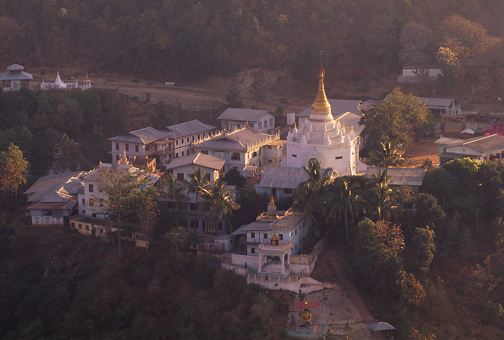 Monestery at Taung Kalat, view from Monastery