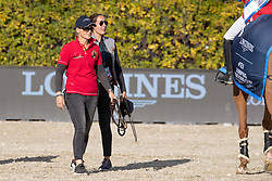 Caracas and groom<br /> Longines FEI Jumping Nations Cup™ Final<br /> Barcelona 20128<br /> © Hippo Foto - Dirk Caremans<br /> 07/10/2018