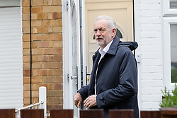 © Licensed to London News Pictures. 02/05/2018. London, UK. JEREMY CORBYN, the Labour Party leader leaving his north London home today, the day before local elections take place in London and across the country. Photo credit: Vickie Flores/LNP