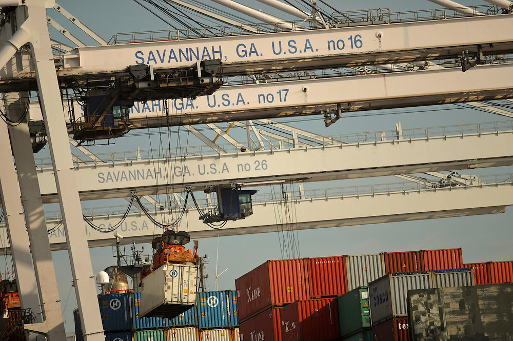 Georgia Ports Authority , Thursday, June, 27, 2013, at the Garden City Terminal near Savannah, Ga.  (GPA Photo/Stephen Morton)