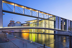 Government buildings Paul Loebe haus part of Bundestag at Regierungsviertel (Government District) beside Spree River in central Berlin Germany