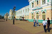Russie, Siberie, gare ferroviaire sur le trajet du transsiberien // Russia, Siberia, Irkutsk, Railway station, Trans-siberian
