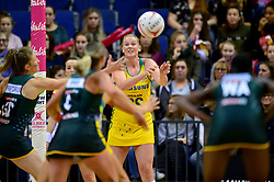 Samsung Diamonds' Caitlin Thwaites in action during the Vitality Netball International Series match at the Echo Arena, Liverpool.
