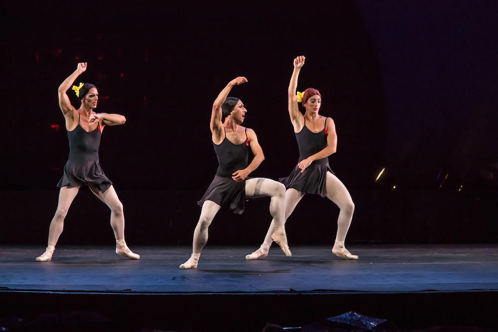 Three dancers from Les Ballets Trockadero de Monte Carlo cut loose.