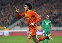 Fotball<br /> 05.03.2014<br /> Belgia v Elfenbenskysten<br /> Foto: Witters/Digitalsport<br /> NORWAY ONLY<br /> <br /> 1:0 Jubel Marouane Fellaini (Belgien)<br /> Fussball, Laenderspiel, Belgien - Elfenbeinkueste 2:2