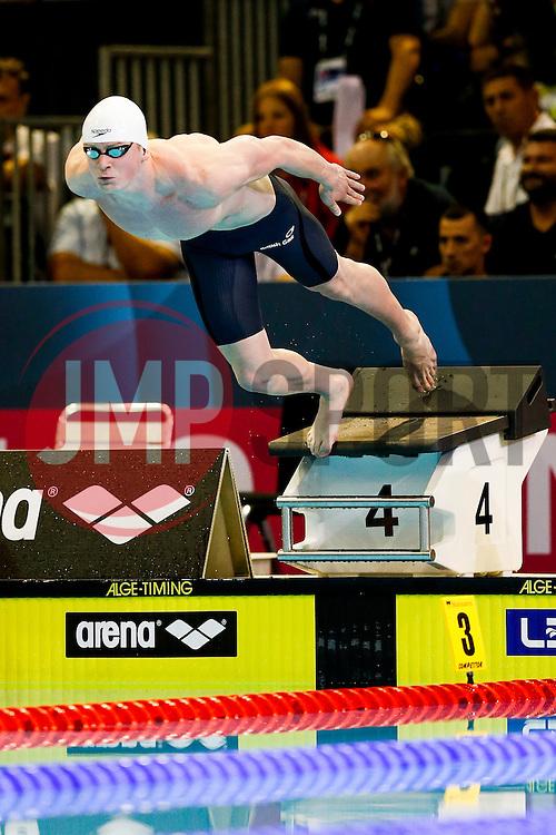 Adam Peaty of Great Britain wins a Gold Medal in the Mens 50m Breaststroke Final - Photo mandatory by-line: Rogan Thomson/JMP - 07966 386802 - 23/08/2014 - SPORT - SWIMMING - Berlin, Germany - Velodrom im Europa-Sportpark - 32nd LEN European Swimming Championships 2014 - Day 11.