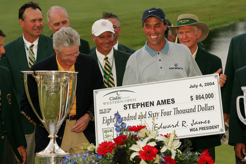 Stephen Ames..2004 Western Open.Final Round.Cog Hill GC.Lemont, IL.Sunday, July 4 2004..photograph by Darren Carroll