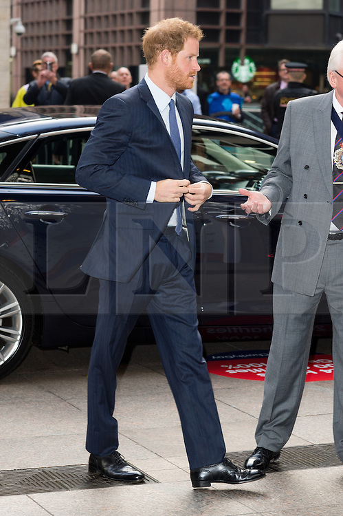 © Licensed to London News Pictures. 07/12/2016. HRH PRINCE HARRY arrives to attend ICAP Annual Charity Day where the companies revenue and commissions for that day are given to select charities. London, UK. Photo credit: Ray Tang/LNP