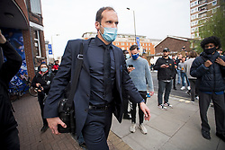 © Licensed to London News Pictures. 20/04/2021. London, UK. Chelsea FC performance advisor PETR CECH arrives at Stamford Bridge in West London before it was announced the club would be applying to withdraw from the European Super League. There has been widespread hostility towards proposals for a new elite league of European football clubs, which opponents say will kill competition and damage the sport. Photo credit: Ben Cawthra/LNP