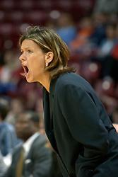 03 December 2004  <br /> <br /> Redbirds Head Women's Basketball Coach Robin Pingeton.<br /> <br /> ISU V Oakland University (Rochester MI) women's basketball. Redbird Arena, Illinois State University, Normal IL
