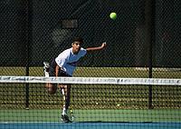 St Paul's School varsity boys tennis with Kimball Union.  ©2018 Karen Bobotas Photographer
